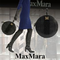 MaxMara Casual Style Calfskin Blended Fabrics Other Animal Patterns