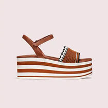 kate spade new york Open Toe Platform Casual Style Leather