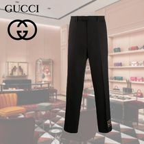 GUCCI Plain Logo Cropped Pants