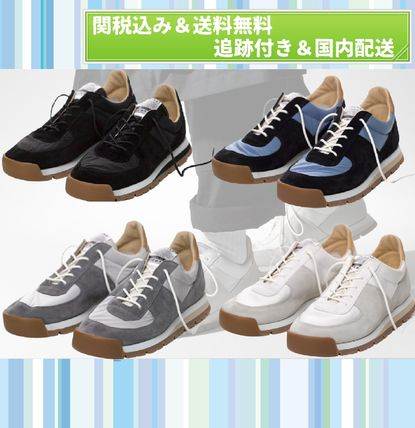Plain Toe Rubber Sole Lace-up Casual Style Unisex Suede