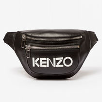 KENZO Casual Style Unisex Street Style Leather Shoulder Bags