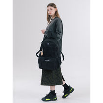 ANOTHER FRAME Casual Style Unisex Street Style A4 Plain Logo Backpacks