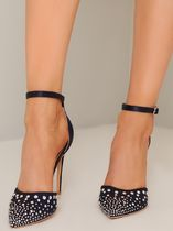 Chi Chi London Casual Style Plain Pin Heels Party Style With Jewels