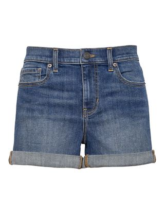 Short Casual Style Denim Cotton Denim & Cotton Shorts