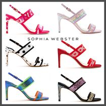 SOPHIA WEBSTER Dots Open Toe Square Toe Casual Style Leather Party Style