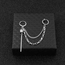 Unisex Street Style Chain Stainless Earrings