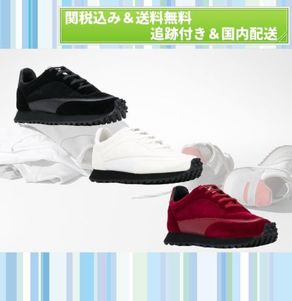 Plain Toe Rubber Sole Lace-up Casual Style Unisex
