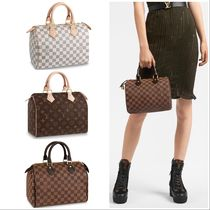 Louis Vuitton SPEEDY Monogram Casual Style Canvas Blended Fabrics Leather
