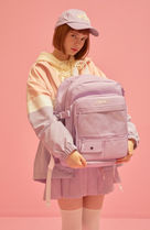 WHO.A.U Unisex Street Style Logo Backpacks