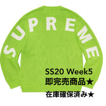 Supreme Street Style Collaboration Logo Sweaters