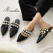 Casual Style Enamel Plain With Jewels Slippers