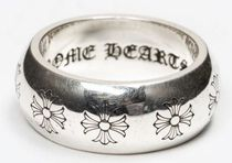 CHROME HEARTS CH PLUS Unisex Street Style Silver Logo Rings
