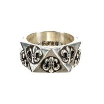 CHROME HEARTS BS FLARE Unisex Street Style Silver Logo Rings