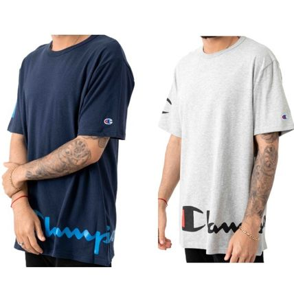 Crew Neck Street Style Cotton Short Sleeves Logo T-Shirts