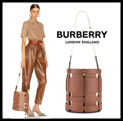 Casual Style Leather Purses Bucket Bags