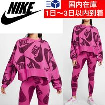 Nike Crew Neck Short Casual Style Tight Sweat Blended Fabrics