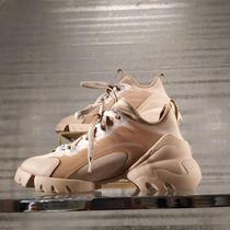 Christian Dior Rubber Sole Casual Style Street Style Oversized Khaki