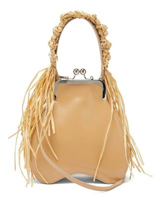 Casual Style 2WAY Plain Leather Fringes Handbags