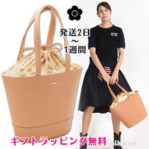 MARY QUANT Casual Style Plain Office Style Logo Totes