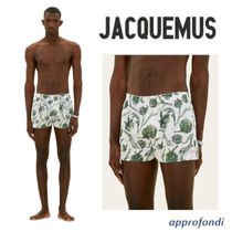 JACQUEMUS Flower Patterns Cotton Logo Trunks & Boxers
