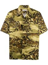 GIVENCHY Camouflage Leopard Patterns Street Style Cotton