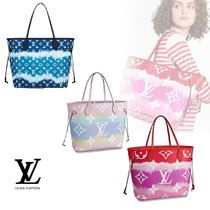 Louis Vuitton Monogram Casual Style A4 2WAY Leather Co-ord Logo Totes