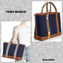 Tory Burch Stripes Canvas Totes