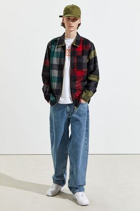 Tartan Other Plaid Patterns Street Style Long Sleeves Shirts