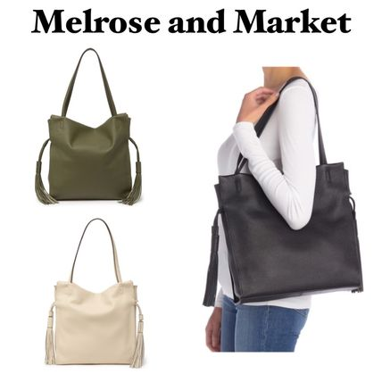 Casual Style Tassel Plain Office Style Formal Style  Totes