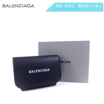 BALENCIAGA EVERYDAY TOTE Calfskin Plain Leather Logo Card Holders