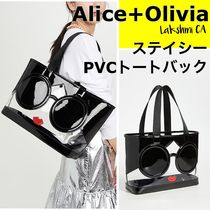 Alice+Olivia Casual Style A4 Crystal Clear Bags PVC Clothing Office Style