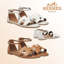 HERMES Open Toe Leather Sandals Sandal