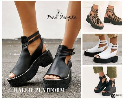 Platform Rubber Sole Street Style Leather