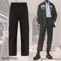 VALENTINO Tapered Pants Street Style Plain Military Tapered Pants