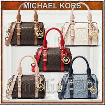 Michael Kors BEDFORD Casual Style Unisex Canvas Blended Fabrics Street Style 2WAY