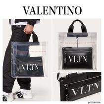 VALENTINO Casual Style Nylon Street Style A4 Office Style