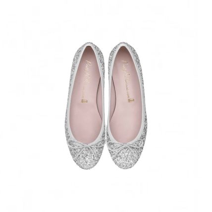 Glitter Leather Ballet Shoes