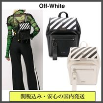 Off-White Stripes Casual Style Street Style Bi-color Leather