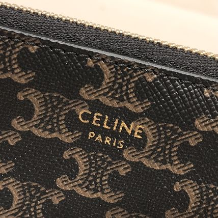 CELINE Triomphe Monogram Canvas Small Wallet Logo Coin Cases