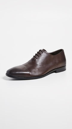 Plain Leather Oxfords