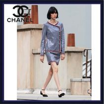 CHANEL Pencil Skirts Casual Style Medium Party Style Elegant Style