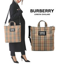 Burberry Unisex Street Style Totes