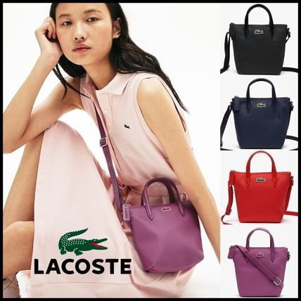 LACOSTE Shoulder Bags Casual Style 2WAY Plain Crossbody Shoulder Bags