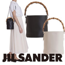Jil Sander Casual Style Blended Fabrics 2WAY Leather Party Style Purses