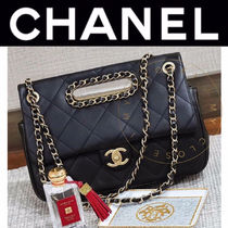 CHANEL MATELASSE Casual Style Street Style 2WAY Chain Plain Handmade