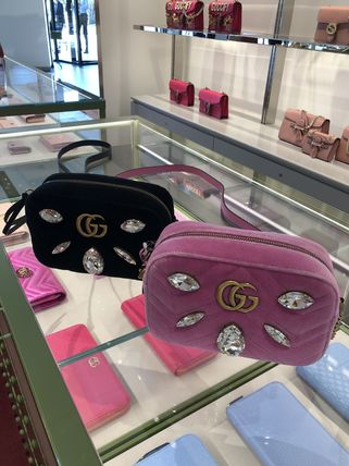 GUCCI GG Marmont Crossbody Formal Style  Casual Style Chain Party Style