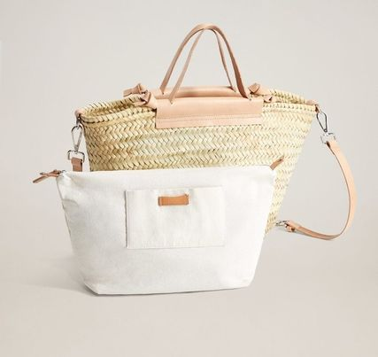Crossbody Casual Style 2WAY Leather Totes