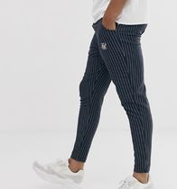 SikSilk Stripes Street Style Cropped Pants