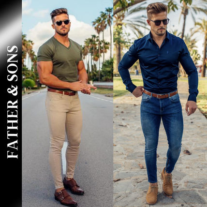 Father & Sons More Jeans Street Style Plain Jeans