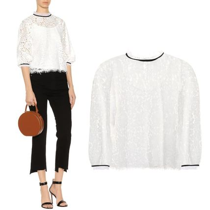 Cropped Cotton High-Neck T-Shirts